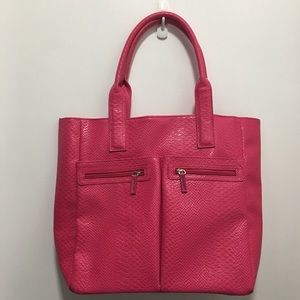 Hot Pink Shopping Tote Neiman Marcus